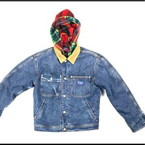 Polo Hi-tech Flannel Fleece lines Denim jacket